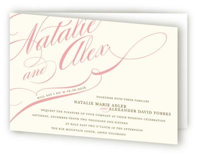 Winter Flourish Four-Panel Wedding Invitations