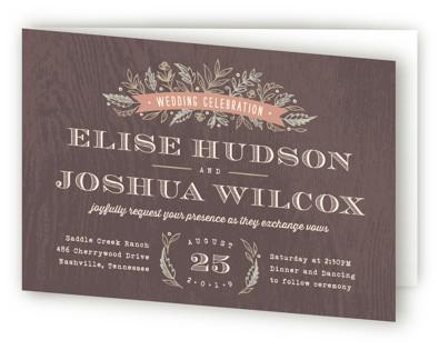 Woodland Romance Four-Panel Wedding Invitations
