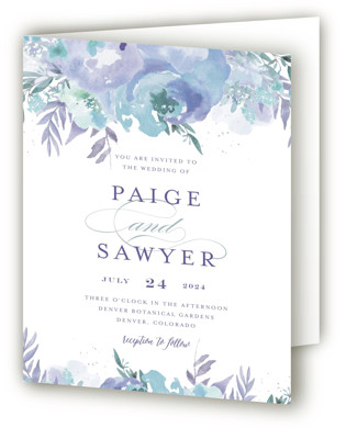 Big Blooms Four-Panel Wedding Invitations