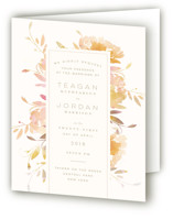 Garden Four-Panel Wedding Invitations