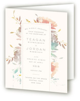 Garden Four-Panel Wedding Invitations