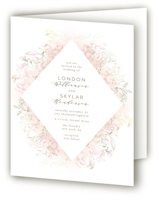 Pastel Dream Four-Panel Wedding Invitations