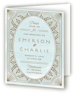 Elegant Lines Four-Panel Wedding Invitations
