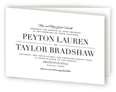 photo of Classic Four Panel Wedding Invitations