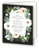 Blooming Bouquet Four-Panel Wedding Invitations