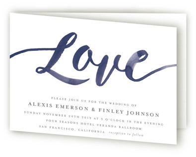 Love Four-Panel Wedding Invitations