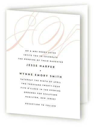 Twirl Monogram A Four-Panel Wedding Invitations