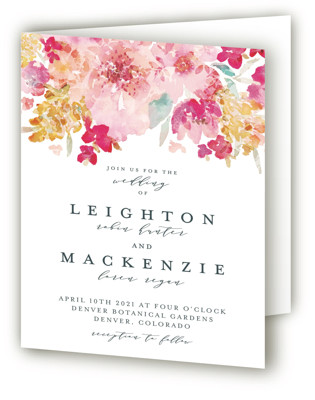 Spring Garden Four-Panel Wedding Invitations