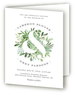 Leafy ampersand Four-Panel Wedding Invitations