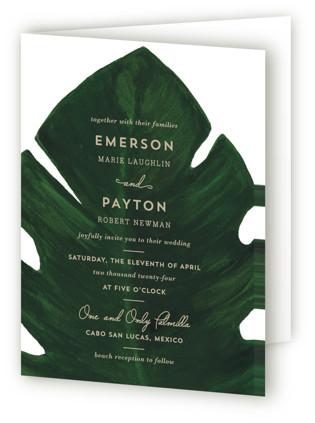 Palm Four-Panel Wedding Invitations