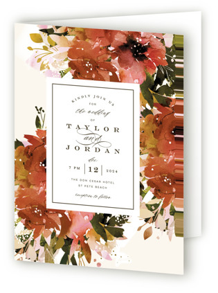 photo of Eden Four Panel Wedding Invitations