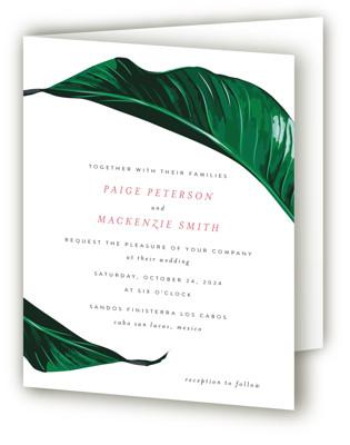 Mod Palm Four-Panel Wedding Invitations
