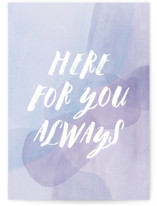 This is a purple sympathy card by Olivia Raufman called Always with standard printing on signature in greeting cards.
