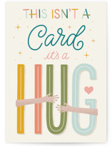 This is a orange sympathy card by Everyday Hooray called a Hug for You with standard printing on signature in greeting cards.