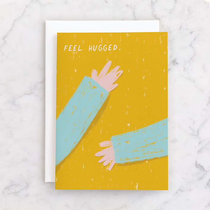 """feel hugged"" - Individual Sympathy Greeting Cards in Sunshine by Katja Ja."