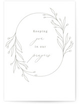 This is a white sympathy card by Design Lotus called Essential with standard printing on signature in greeting cards.