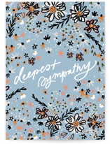 This is a blue sympathy card by Marabou Design called Deeply Loved with standard printing on signature in greeting cards.