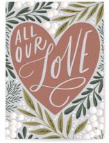 This is a beige sympathy card by Alethea and Ruth called All our love with standard printing on signature in greeting cards.