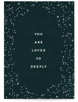 This is a blue sympathy card by Amy Payne called Loved So Deeply with standard printing on signature in greeting cards.