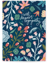 This is a blue sympathy card by Noonday Design called With Deepest Sympathy with standard printing on signature in greeting cards.