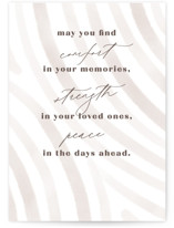 This is a brown sympathy card by Creo Study called modern warmth with standard printing on signature in greeting cards.