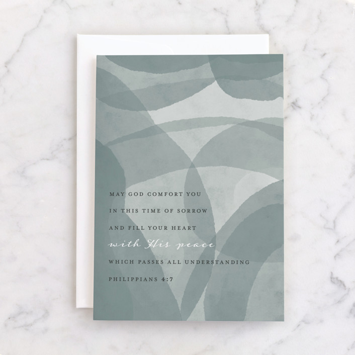 """Modern Sympathy"" - Individual Sympathy Greeting Cards in Slate by Courtney Crane."