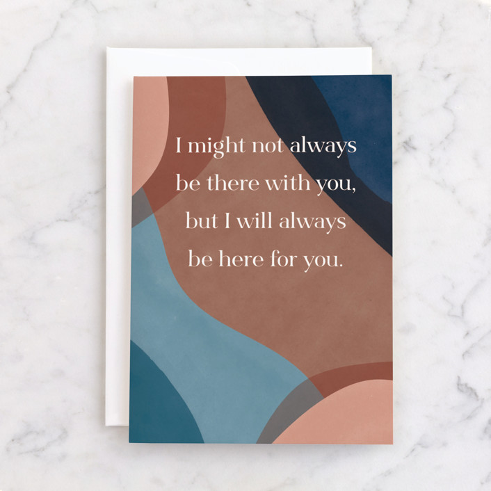 """""""Here for you"""" - Individual Sympathy Greeting Cards in Copper by Pixel and Hank."""