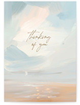This is a blue sympathy card by Lindsay Megahed called Sea Change with standard printing on signature in greeting cards.