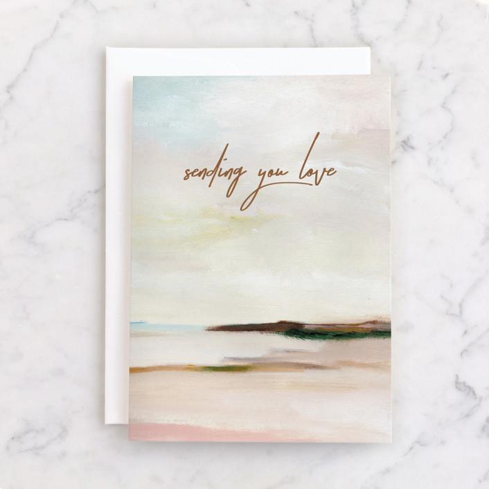 """Love"" - Individual Sympathy Greeting Cards in Sand by Nikita Jariwala."