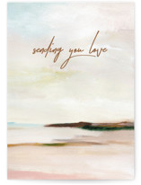 This is a beige sympathy card by Nikita Jariwala called Love with standard printing on signature in greeting cards.