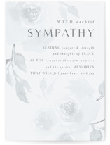 This is a blue sympathy card by Nicoletta Savod called Solace with standard printing on signature in greeting cards.
