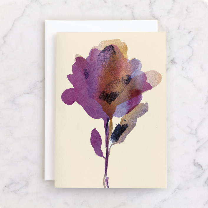"""Elegant flower"" - Individual Sympathy Greeting Cards in Daisy by Alexandra Dzh."
