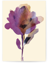 This is a yellow sympathy card by Alexandra Dzh called Elegant flower with standard printing on signature in greeting cards.