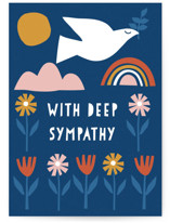 This is a blue sympathy card by Nam Bourassa called Scandi Dove with standard printing on signature in greeting cards.