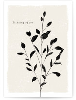 This is a beige sympathy card by chocomocacino called Blanc with standard printing on signature in greeting cards.