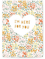 This is a green sympathy card by Jennifer A. Smith called I'm Here for You with standard printing on signature in greeting cards.