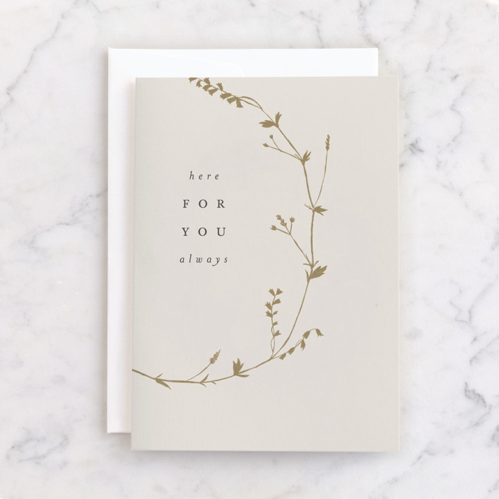 """""""here always"""" - Individual Sympathy Greeting Cards in Champagne by Amy Kross."""