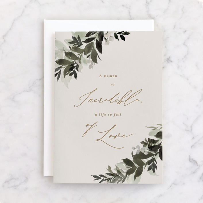 """""""draped"""" - Individual Sympathy Greeting Cards in Champagne by Everett Paper Goods."""