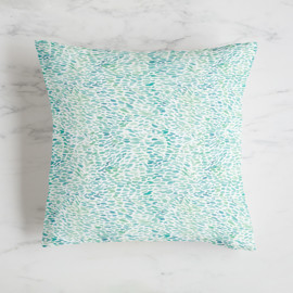 This is a blue pillow by Lori Wemple called Meadow in standard.