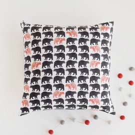 This is a white home accent by Eve Schultz called Bold Bears.