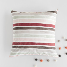 This is a colorful pillow by Wildfield Paper Co. called Candy Cane Stripes.