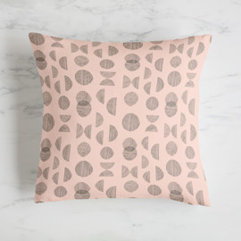 This is a pink pillow by Chi Hey Lee called geolines.