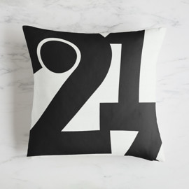 This is a black pillow by Jennifer Morehead called LA 213.