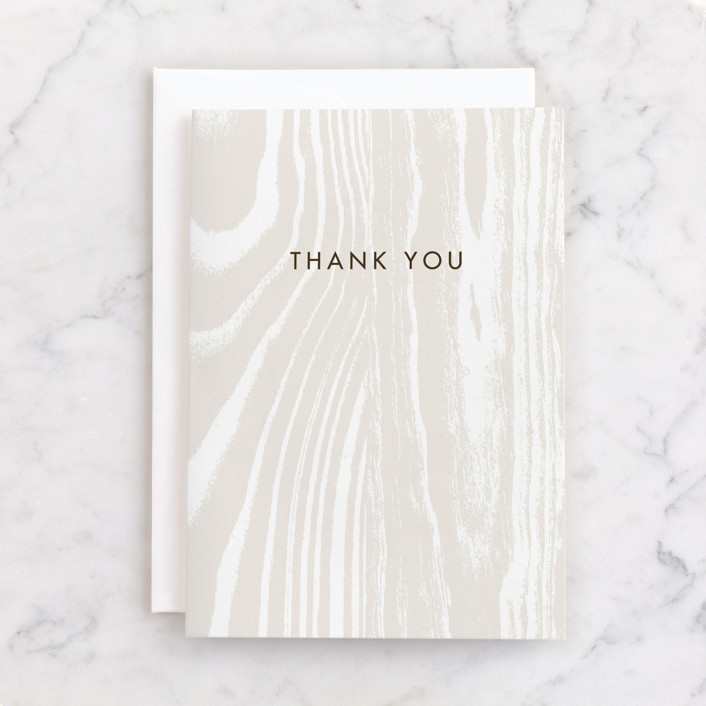 """""""Big Sur"""" - Individual Thank You Greeting Cards in Cream by Annie Clark."""