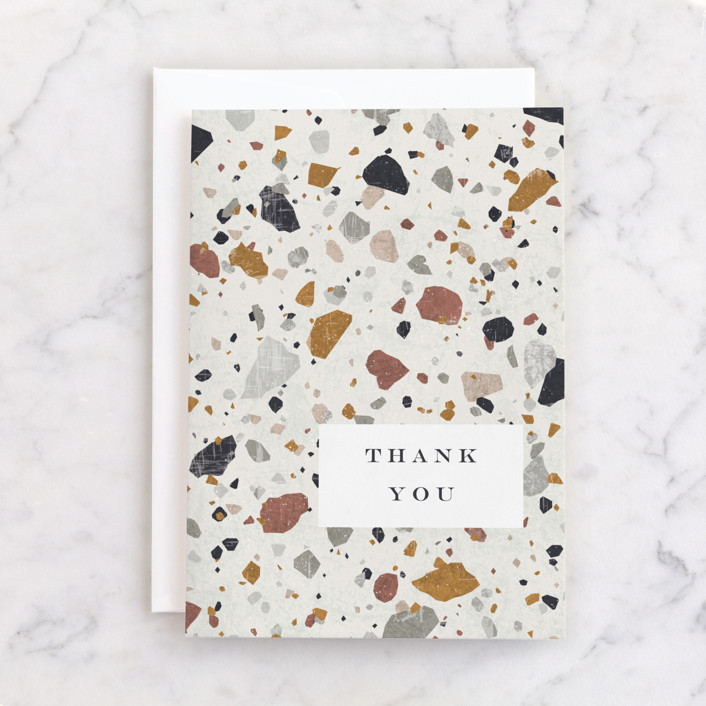 """""""Terrazzo"""" - Individual Thank You Greeting Cards in Stone by Amy Payne."""