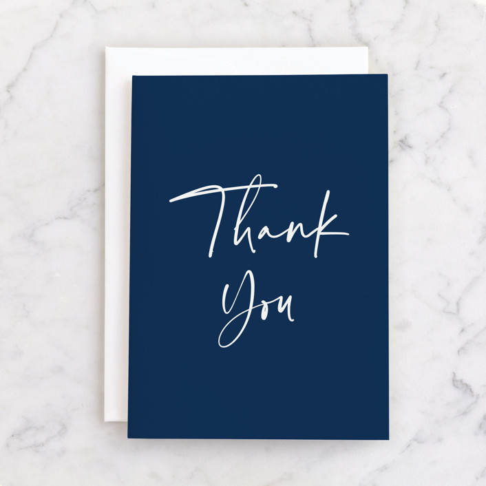 """Semi Formal"" - Individual Thank You Greeting Cards in Navy by Kerry Doyle - Paper Dahlia."