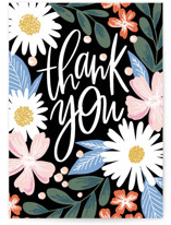 This is a pink greeting card by Alethea and Ruth called Thank You Garden with standard printing on signature in greeting cards.