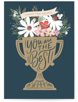 This is a blue greeting card by Alethea and Ruth called You are the Best Award with standard printing on signature in greeting cards.