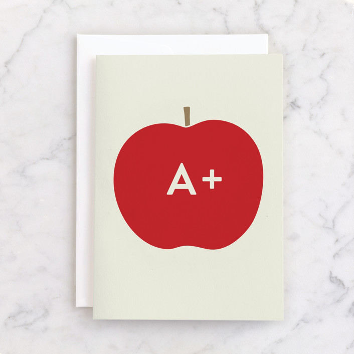 """""""Heirloom Apple"""" - Individual Thank You Greeting Cards in Apple by Alexandra Stafford."""