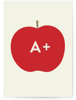 This is a red greeting card by Alexandra Stafford called Heirloom Apple with standard printing on signature in greeting cards.
